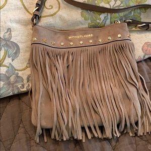 Michael Kors suede fringe crossbody purse